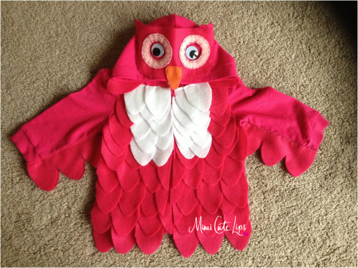 Diy costume owl mimicutelips diy owl costume 10g solutioingenieria Image collections