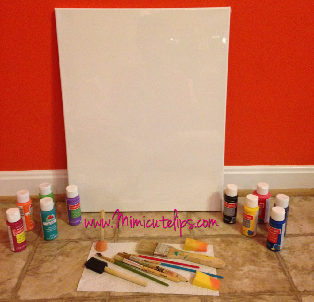Easy DIY Canvas Wall Art Tutorials 2