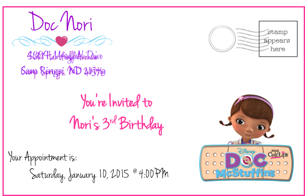 why you should let your child plan their party5 Doc McStuffins Party