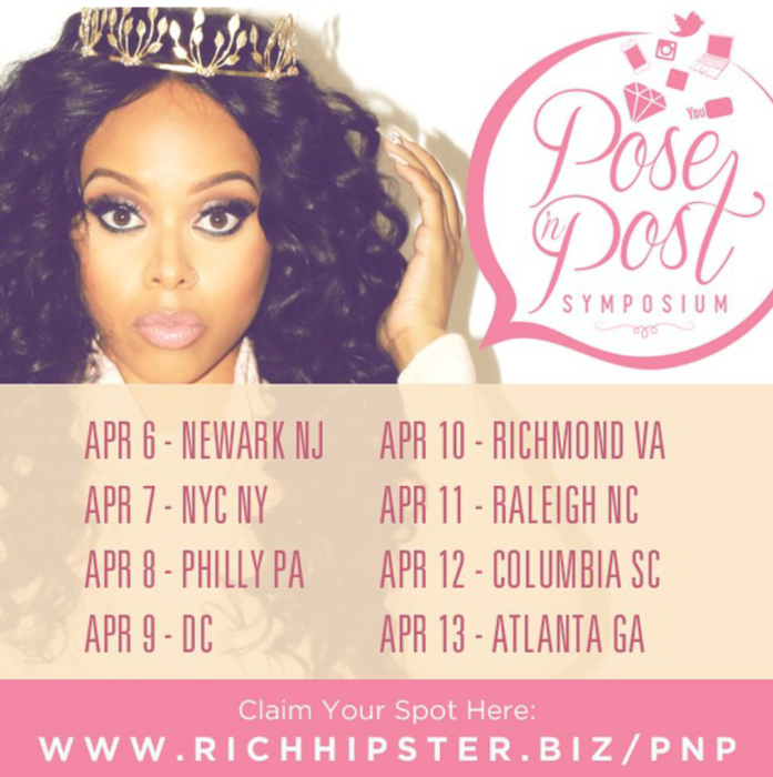 Chrisette Michele Pose 'N Post Promo