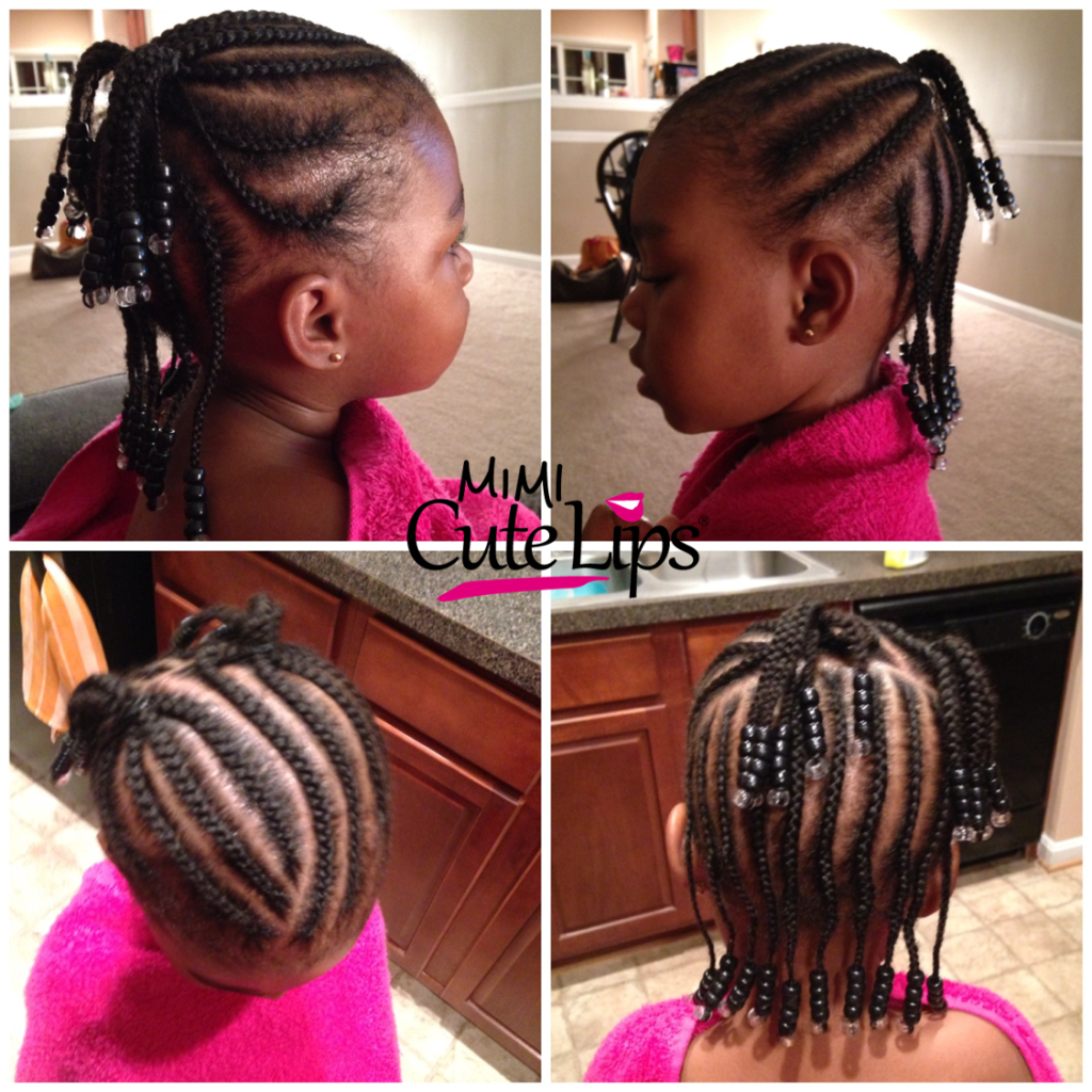 Natural Hairstyles for Kids Braid 8