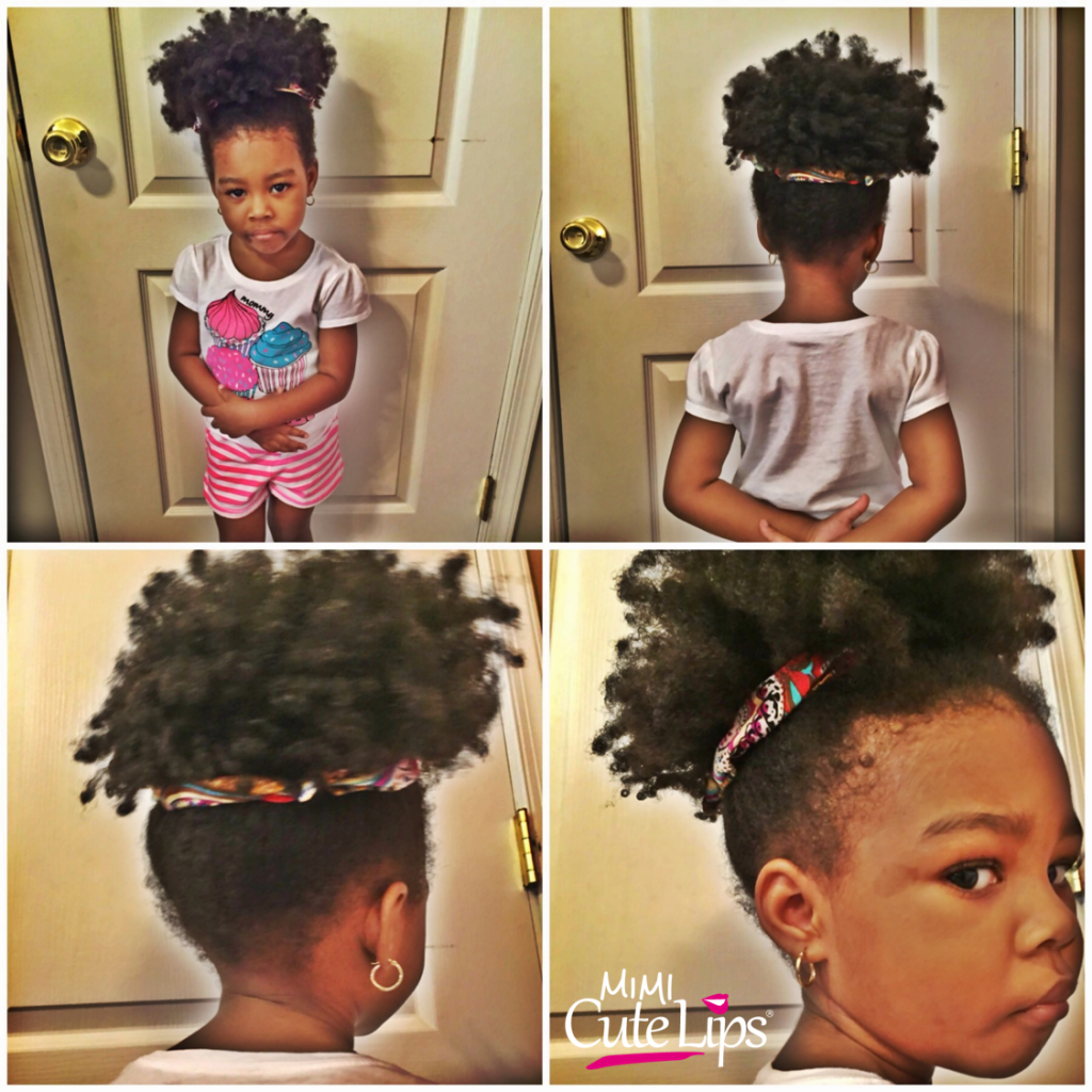 Natural Hairstyles for Kids Puff 2