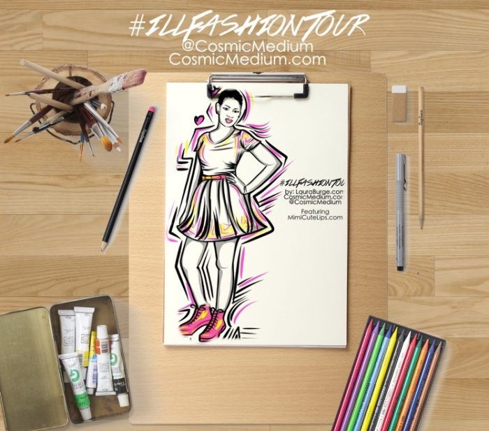 illustrated fashion tour