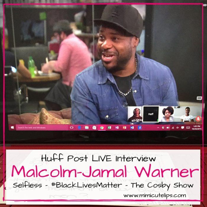 Malcolm-Jamal Warner Huff Post LIVE