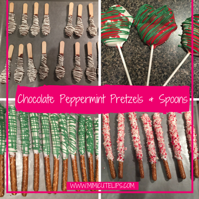 Chocolate Peppermint Pretzels & Spoons chocolate pretzels
