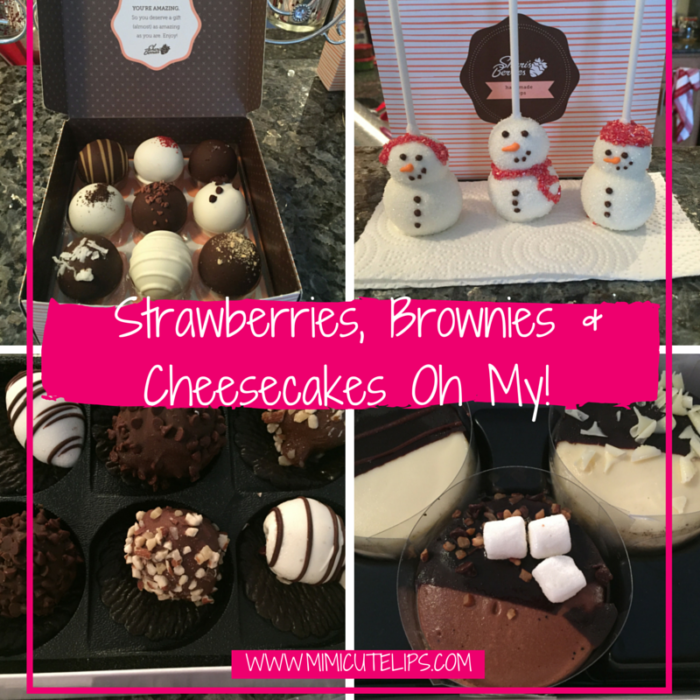 Shari's Berries chocolate covered desserts