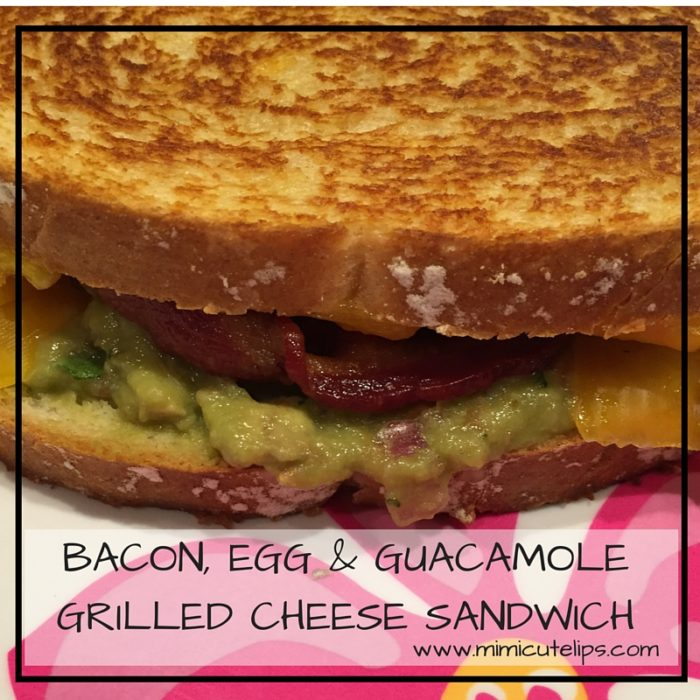 BACON, EGG & GUACAMOLE GRILLED CHEESE SANDWICH COVER IMAGE