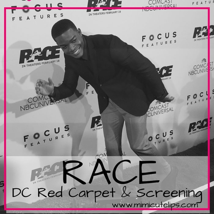 THE WASHINGTON, DC PREMIERE OF RACE. The movie about Olympic track star Jesse Owens starring Stephan James..