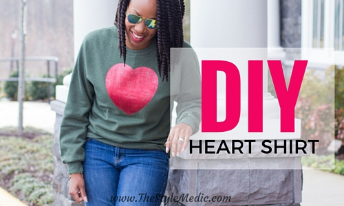 Tutorial DIY Heart Shirt