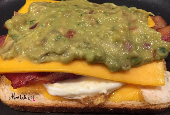 Bacon Guacamole Grilled Cheese Sandwich - MimiCuteLips