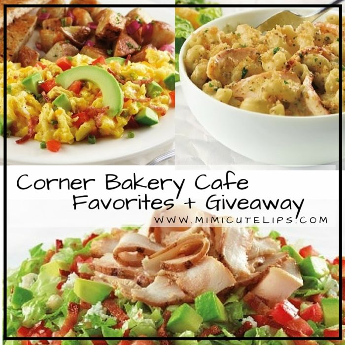 Corner Bakery Cafe favorites- Anaheim Scrambler, Chopped Salad and Pesto Cavatappi