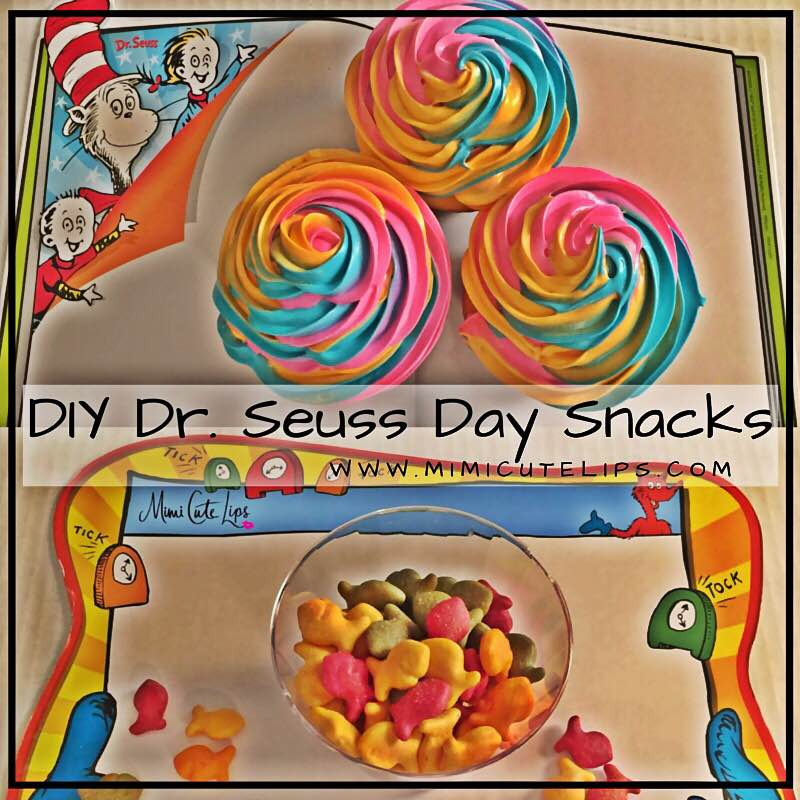 DIY Dr. Seuss Desserts. Oh, the Places You'll Go! Cupcakes & One Fish Two Fish Blue Red Fish Desserts