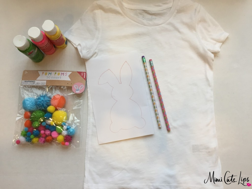 diy easter bunny shirt 1