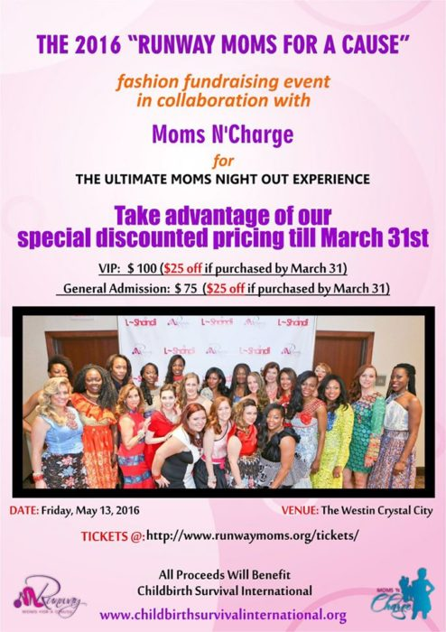 runway moms for a cause discount