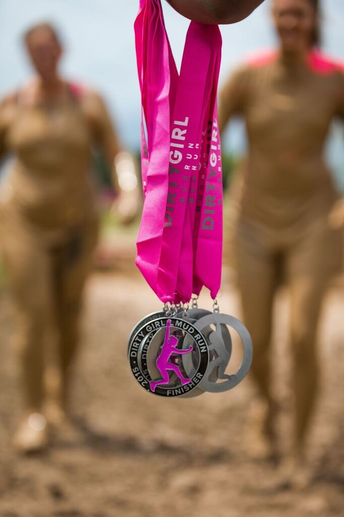Dirty Girls Mud Run Baltimore medals