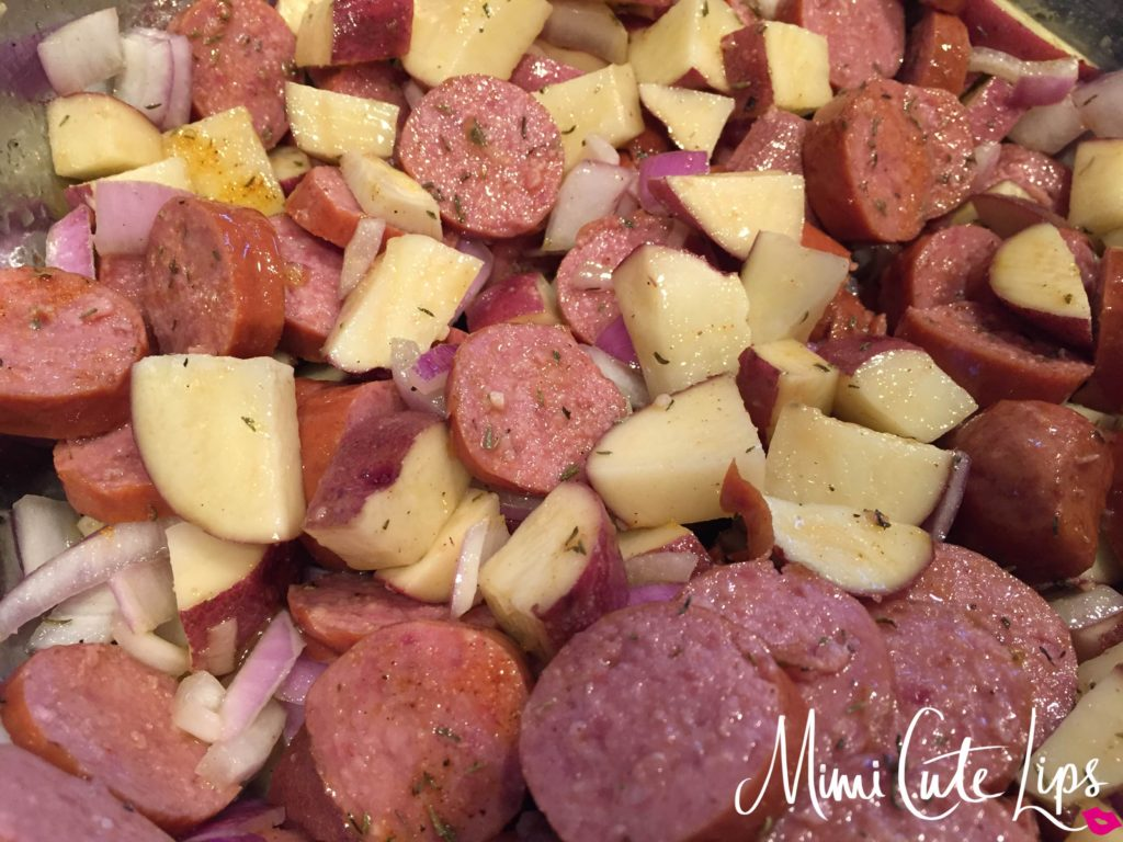OVEN ROASTED SMOKED SAUSAGE AND POTATOES 2