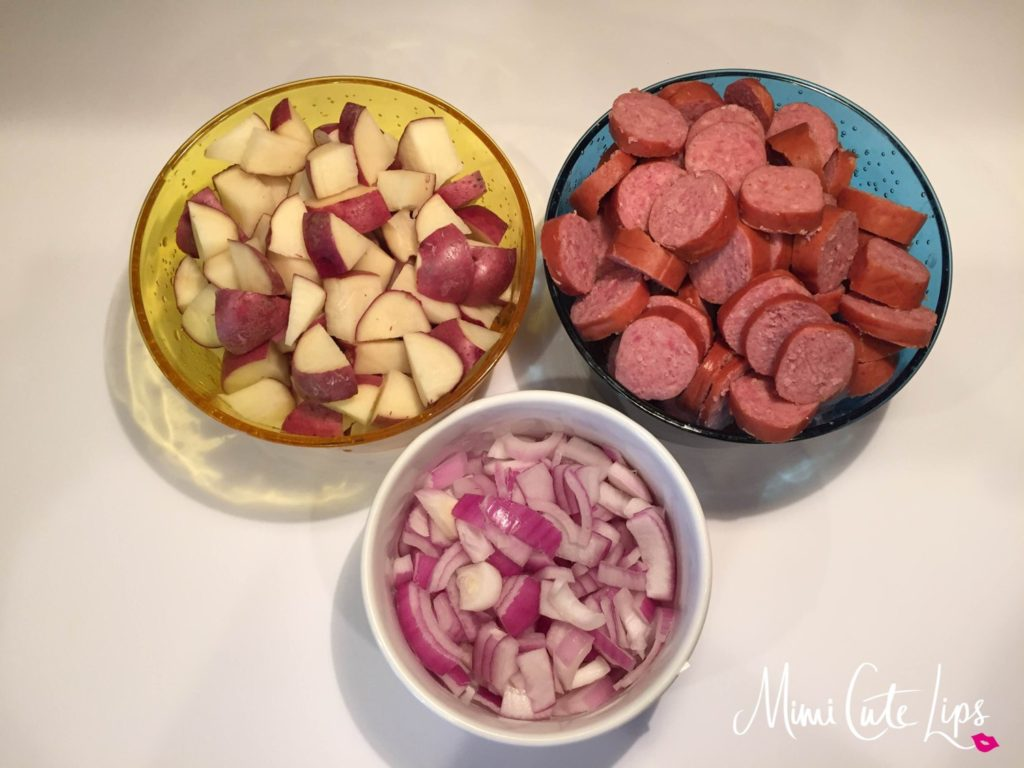OVEN ROASTED SMOKED SAUSAGE AND POTATOES 6