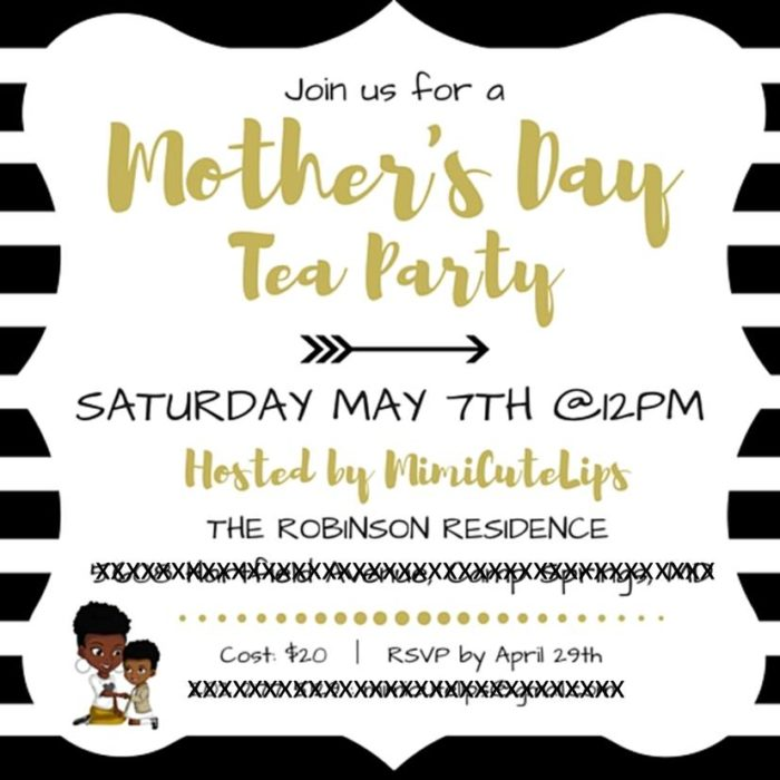 Gold Mother's Day Tea Party 1