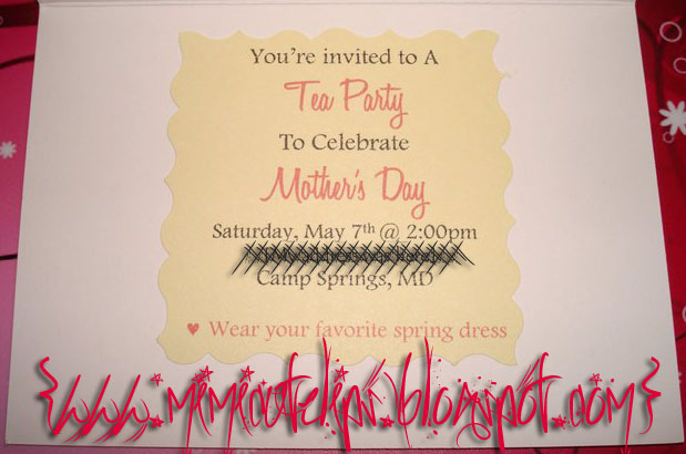 Mother's Day Tea Party 2