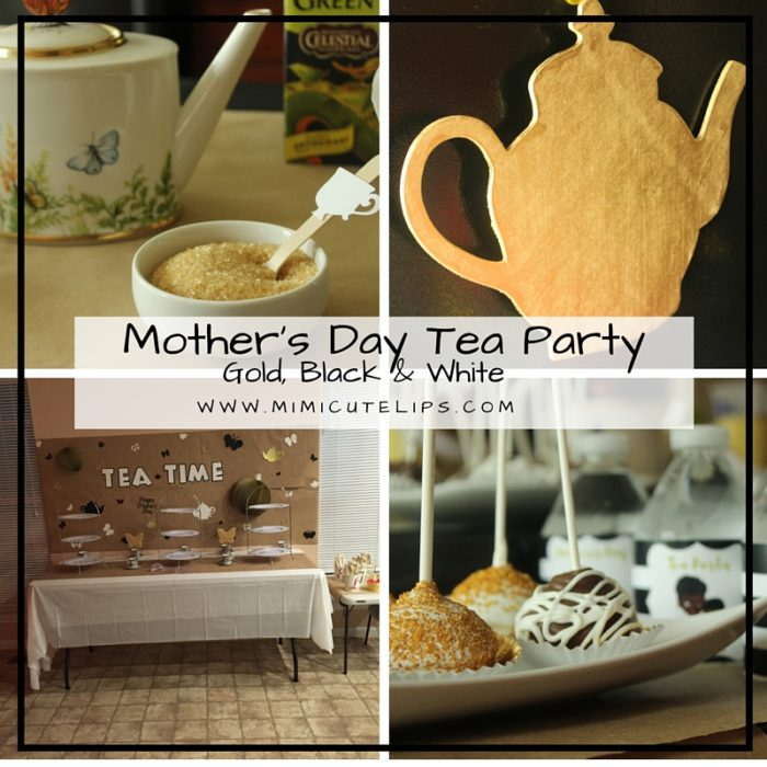 Black Gold White Mother's Day Tea Party 2016