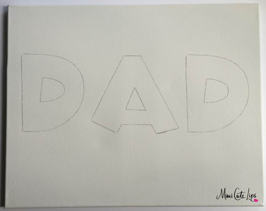DIY Father's Day Canvas 2 DIY Father's Day Gift