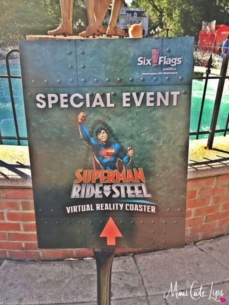 SUPERMAN Ride of Steel Virtual Reality Coaster 1