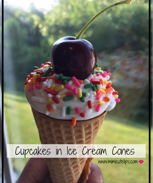 Cupcakes in Ice Cream Cones