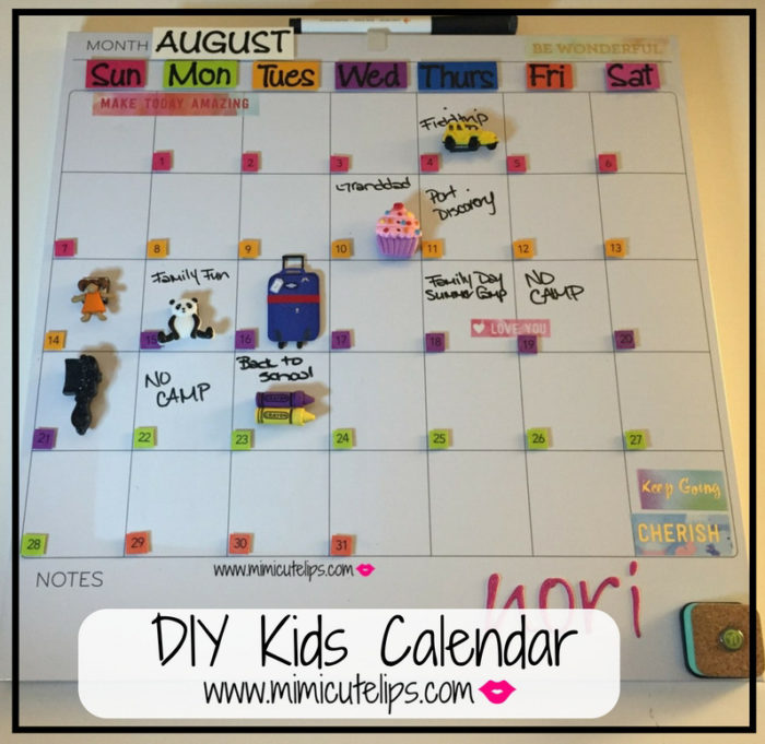 Diy Calendar For School : Diy kids calendar littlecutelips mimicutelips