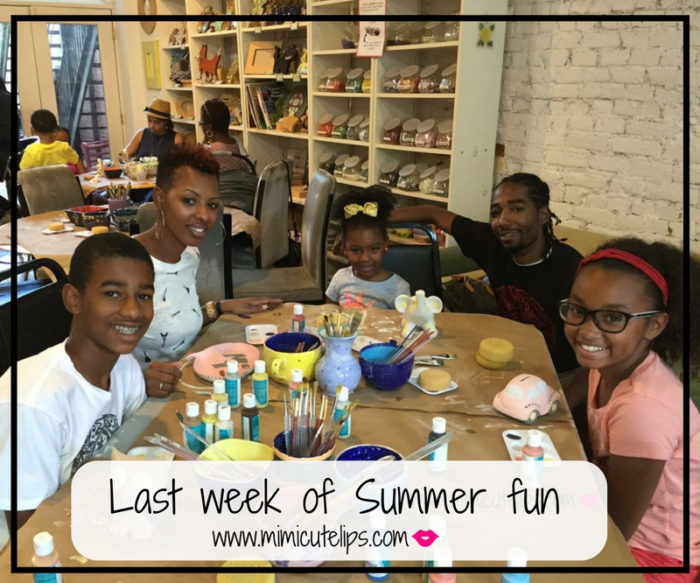 Last week of Summer fun. A family Staycation fun