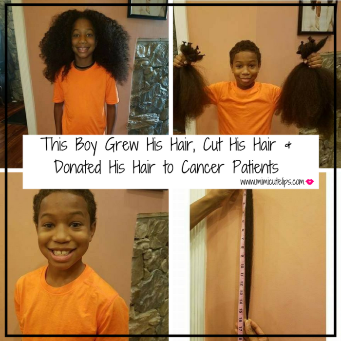 this-boy-grew-his-hair-cut-his-hair-donated-his-hair-to-cancer-patients 10 year old boy cuts hair off to donate