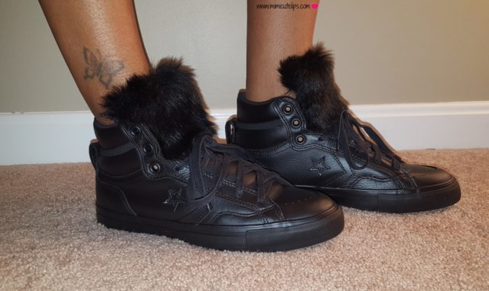 DIY Faux Fur Sneakers