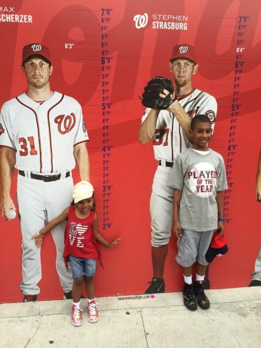 Nationals Baseball game family activities in dc