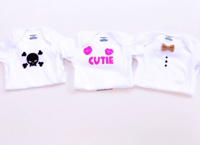 DIY Onesie DIY Baby Shower Gifts