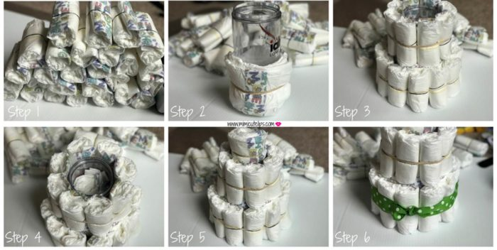 DIY Diaper Cake DIY Baby Shower Gifts