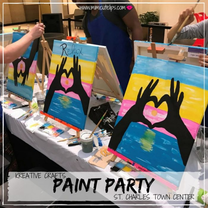 St. Charles Town Center paint nite