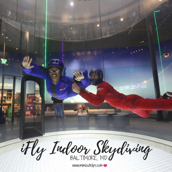 Lifestyle Media Correspondent MimICuteLips shares her iFly indoor skydiving experience at iFly Baltimore, Maryland #iFly #iFlyBaltimore