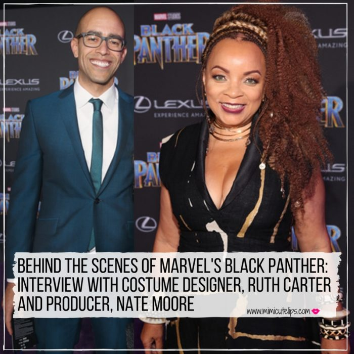Lifestyle Media Correspondent MimiCutelips talks all things black panther costume designs with designer Ruth Carter and Producer, Nate Moore.