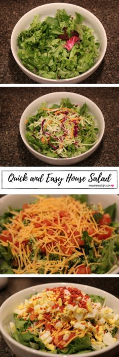 Lifestyle Media Correspondent MimiCuteLips shares her signature easy house salad. You can add the meat of your choice to make it a bit more hearty. Chicken House Salad.