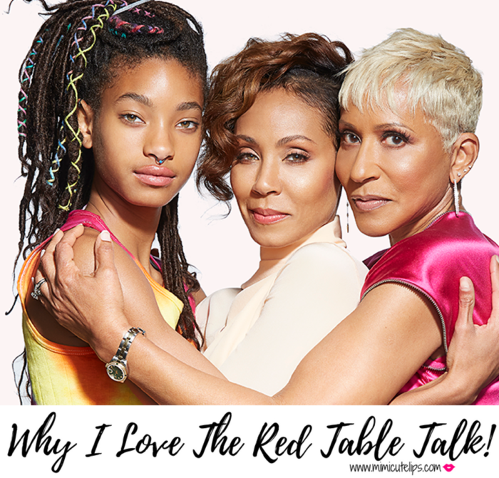Lifestyle Media Correspondent MimiCuteLips shares one of my new favorite shows to watch, the Red Table Talk. It airs on Facebook Watch and features Jada Pinkett Smith, her daughter Willow, and mother Adrienne. This is the girl chat we have been needing. #RedTableTalk