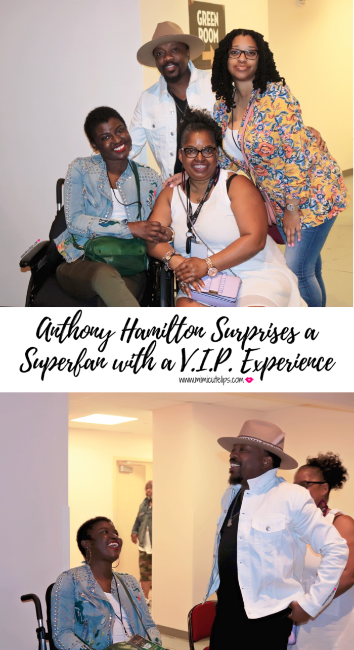 Anthony Hamilton VIP experience for a super fan with terminal cancer VIP treatment. Lifestyle Media Correspondent MimiCuteLips captured it all.