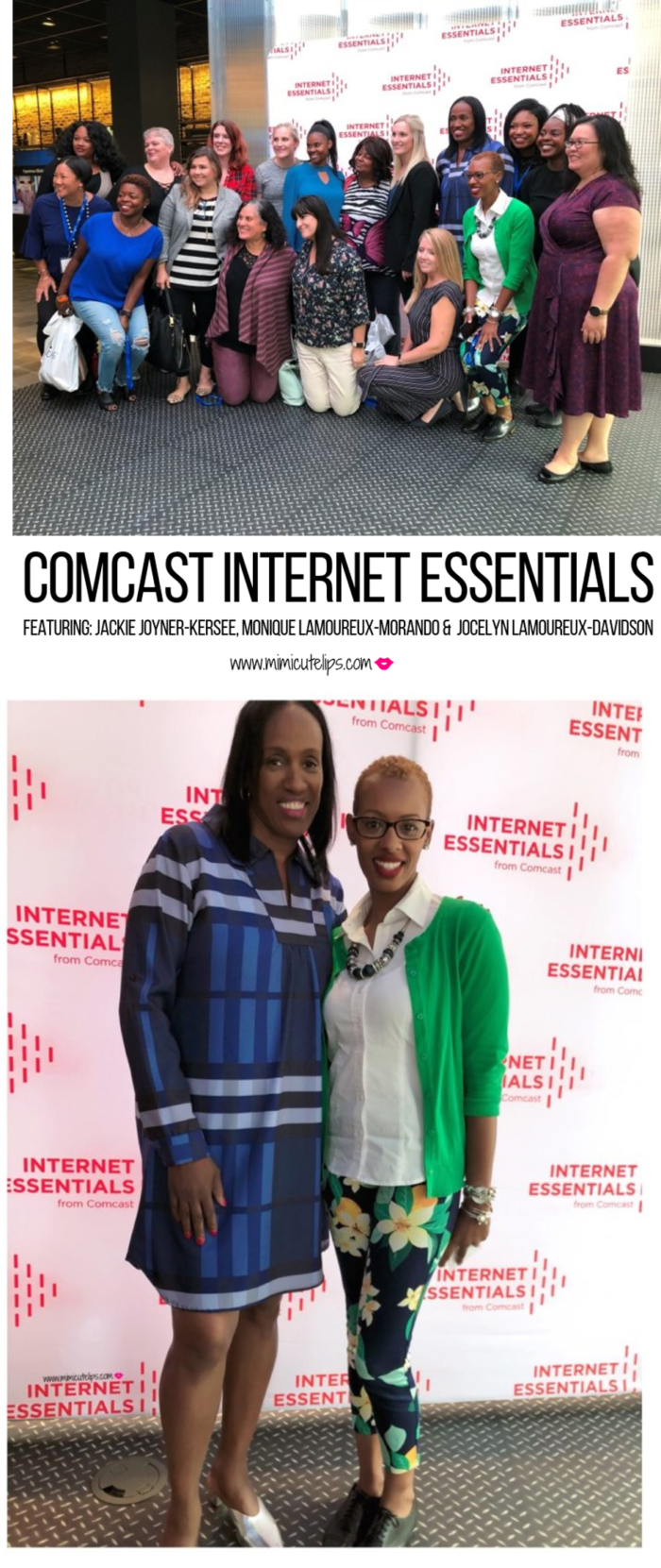 Comcast hosted a lunch with U.S. Olympian Jocelyn Lamoureux-Davidson, Monique Lamoureux-Morando, and Jackie Joyner-Kersee to talk Internet Essentials.