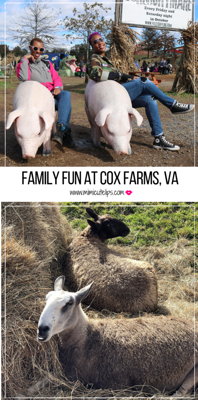Lifestyle Media Correspondent MimiCuteLips shares a fun filled day with her family at Cox Farms, VA. They have a huge farm with a ton of activities & food.