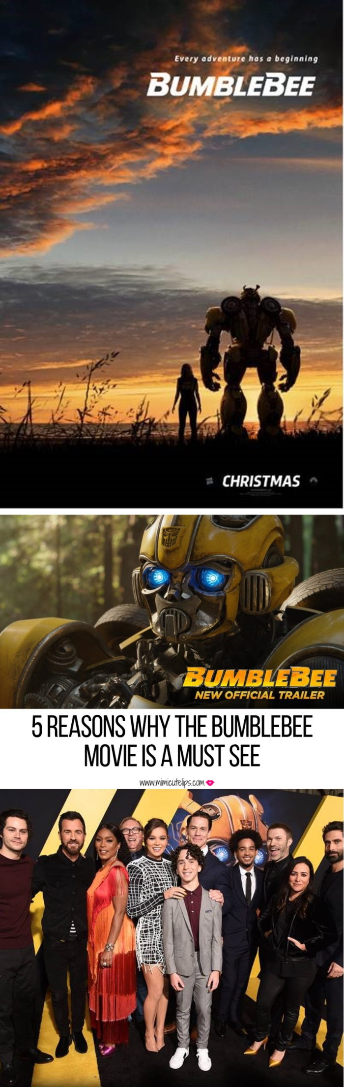Lifestyle Media Correspondent MimiCuteLips shares her Bumblebee Movie Review after attending a movie screening in Washington, DC. #BumblebeeMovie