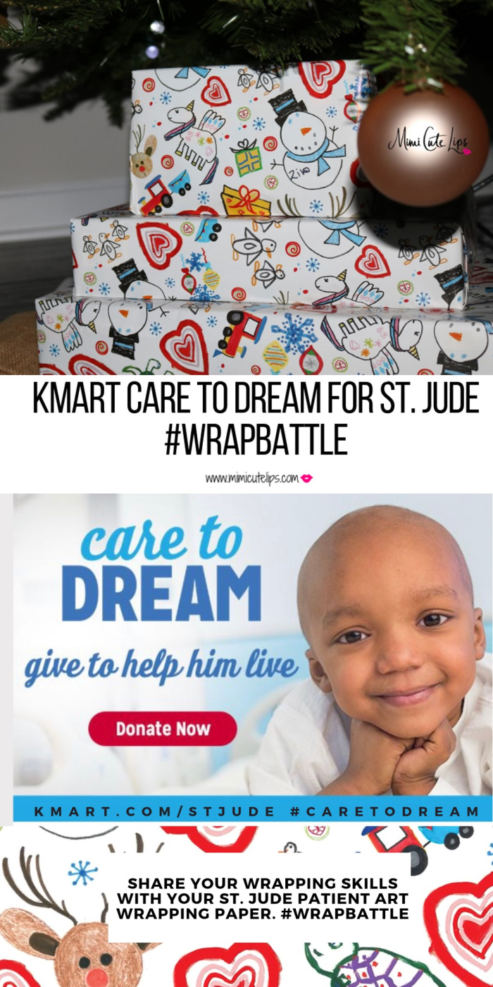 Join the #WrapBattle w/ the Kmart patient wrapping paper in support of St. Jude Children's Research Hospital. Kmart has donated + $112 Million to St. Jude.