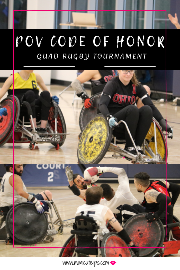 Lifestyle Media Correspondent MimiCuteLips and her family supported PVA Quad Rugby at the POV Code of Honor Quad Rugby Tournament. #PVAunstoppABLE #PVACodeOfHonor