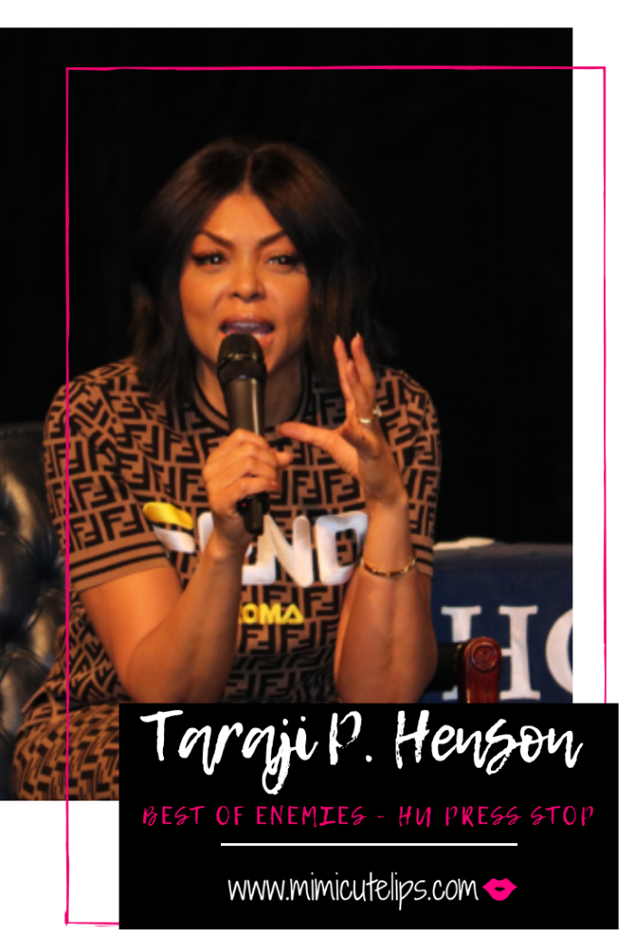 Lifestyle Media Correspondent MimiCuteLips attended Taraji P. Henson's press stop at Howard University for The Best of Enemies. #BestOfEnemies