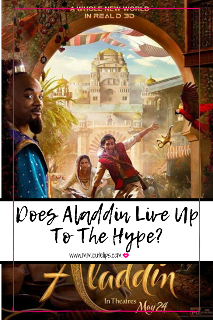 Mimi Robinson shares her spoiler free Aladdin review. To include her thoughts on Aladdin Genie Will Smith and all the drama. #Aladdin in theaters now.