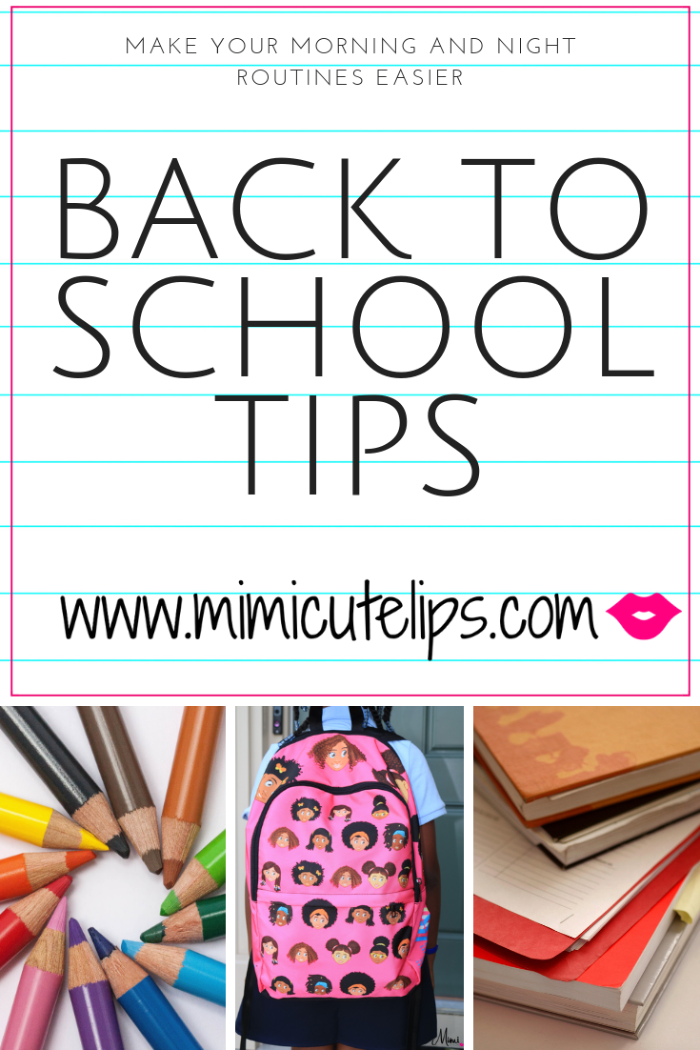 Mimi Robinson, Media Correspondent, and mother of two shares back to school tips that will make your routine easier. Morning routine, packing lunch, + more.