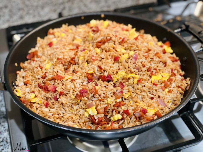 bacon fried rice