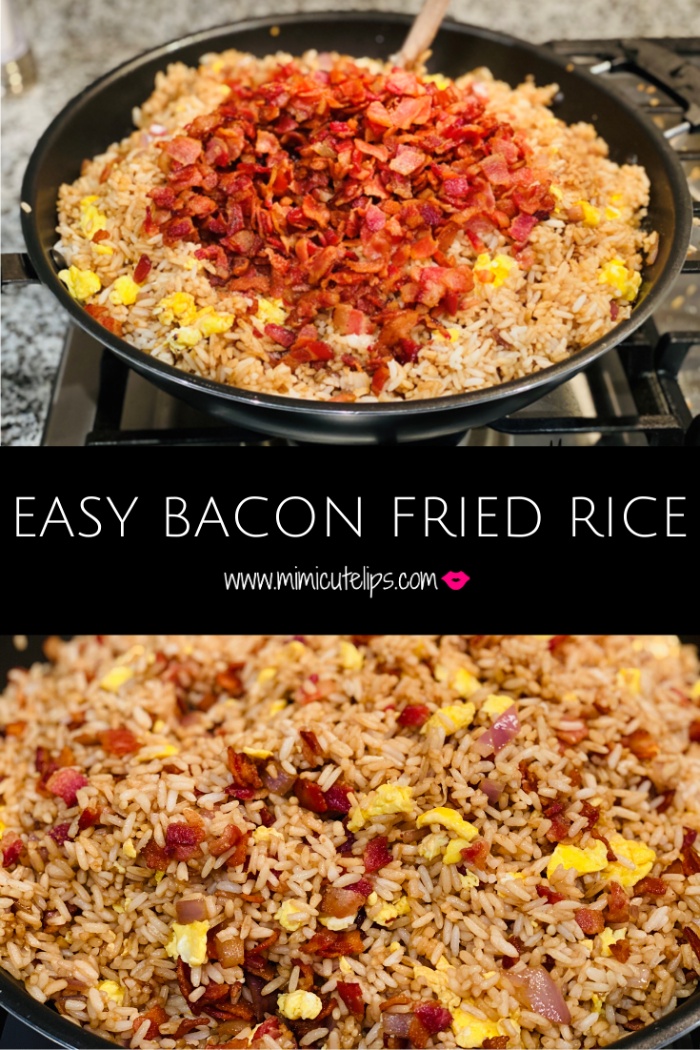 Easy Bacon Fried Rice receipe, a nice spin on an asian classic. Put your own spin on it and let me know how it turns out.
